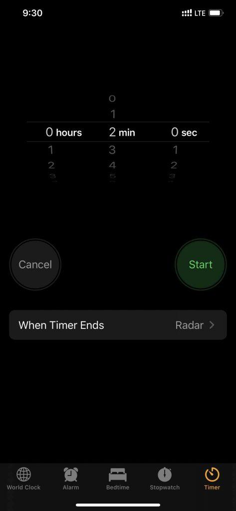Clock App iPhone