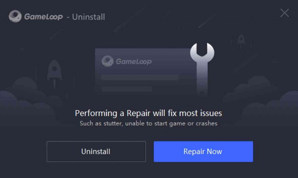 Repair or Uninstall Gameloop