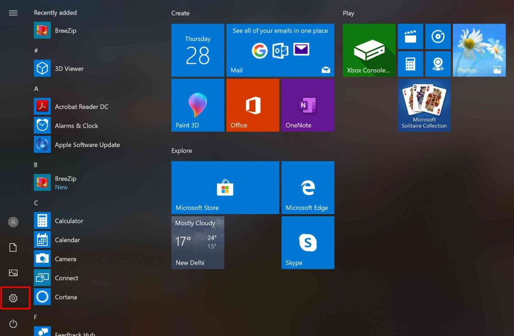 Setting Icon Start Menu Windows