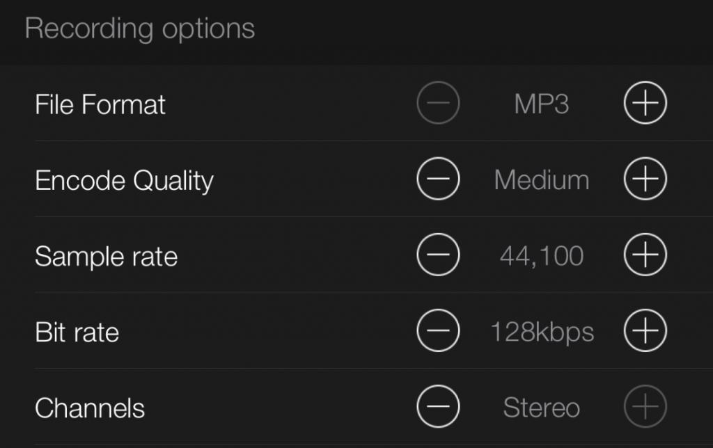 Avr Recordings Options