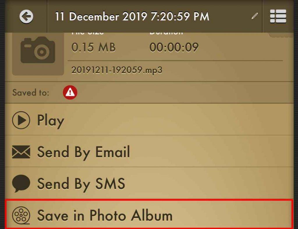 Voice Recorder Pro Save to Photos