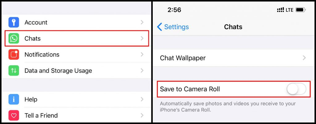 WhatsApp Save to Camera Roll