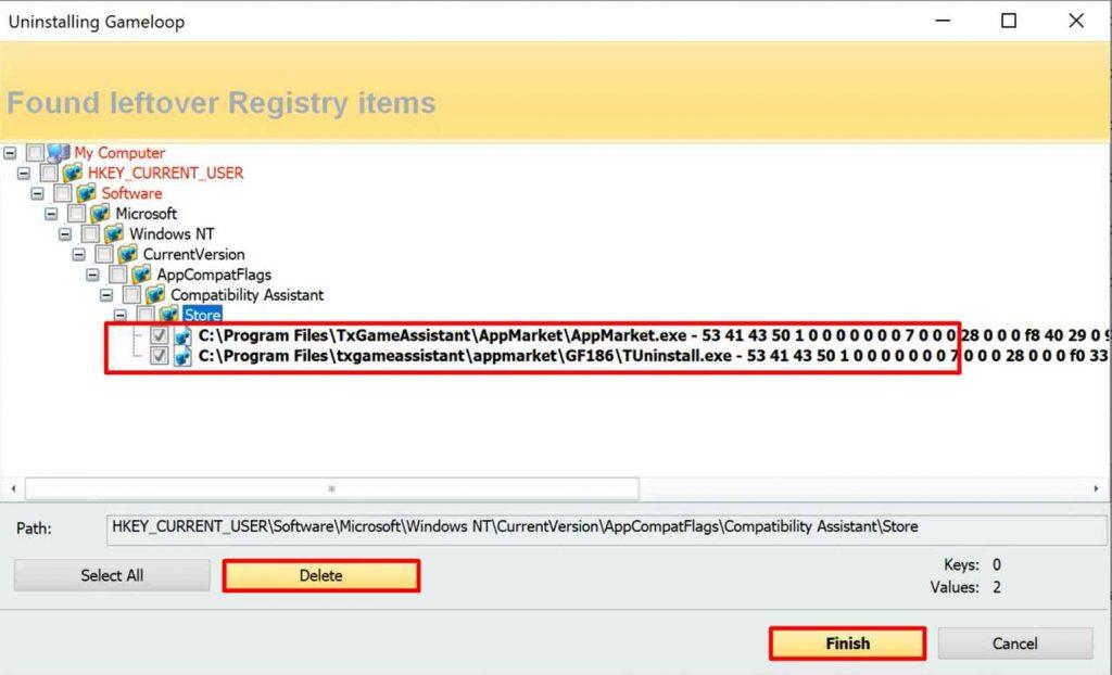 Revo Uninstaller Delete App Registry Files