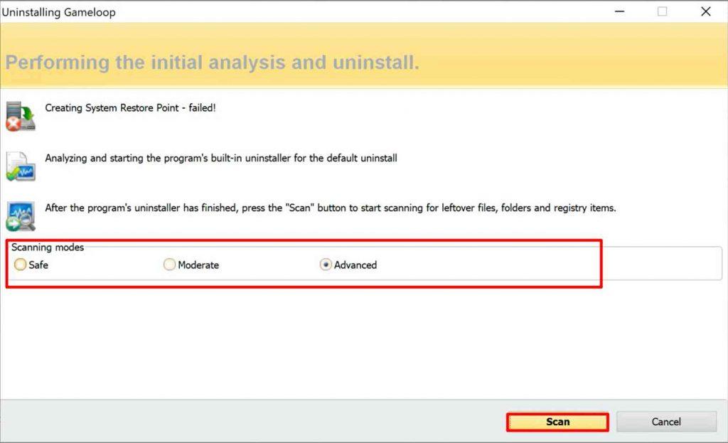 Revo Uninstaller Scan Leftover Registry